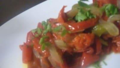 Cipolle stufate con peperoni