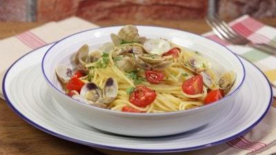 Spaghetti con i lupini di mare