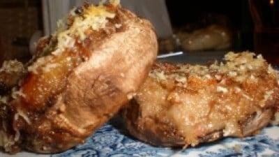 Champignon ripieni di prosciutto