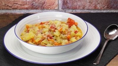 Zuppa di patate rustica