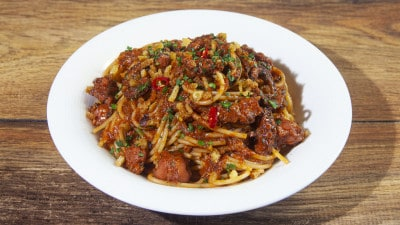 Spaghetti al sugo di polpo