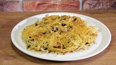 Frittata di spaghetti al tonno senza uova