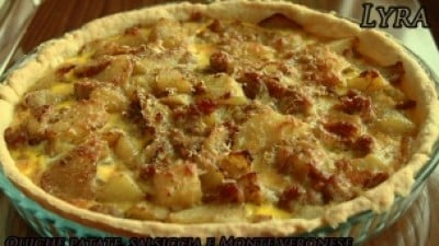 Quiche patate, tastasal e Monte veronese