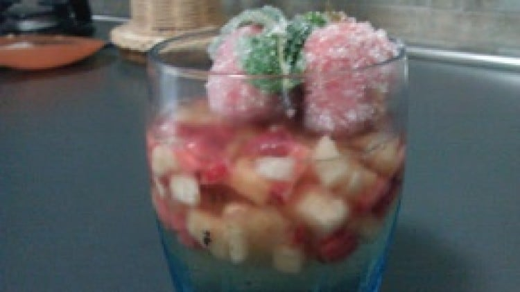 Aspic di frutta al moscato