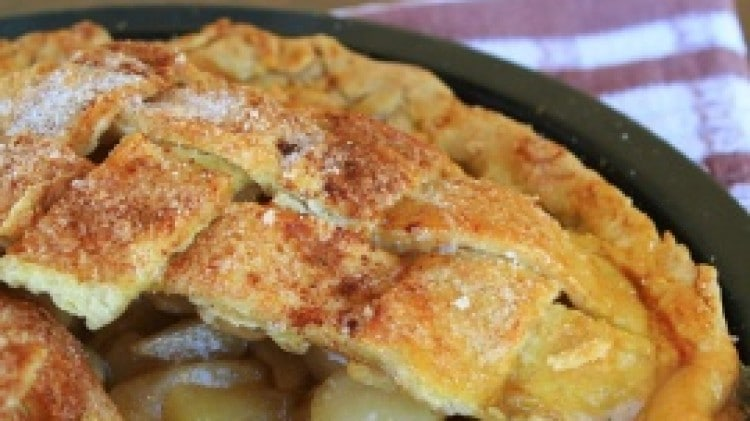 Apple pie con crosta all'olio