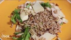 Farro, porcini e gamberetti