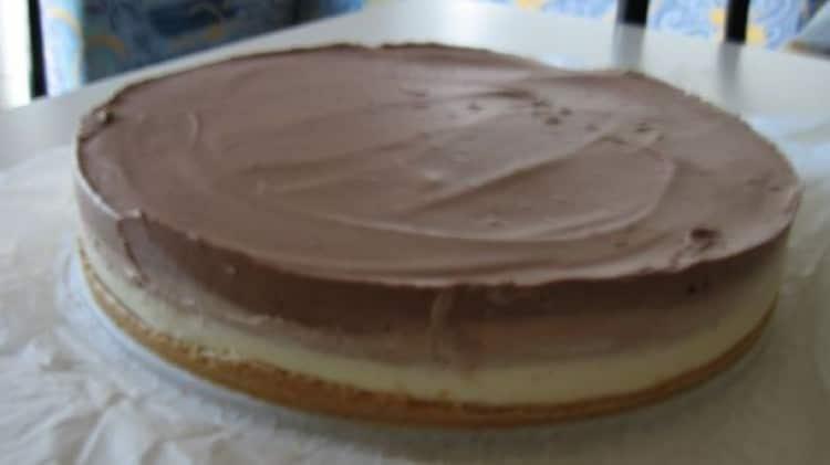 Cheese cake tricolore al cioccolato