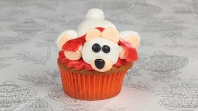 Cupcake con orso bianco