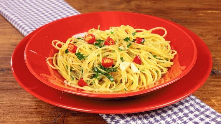 Spaghettini con la colatura di alici