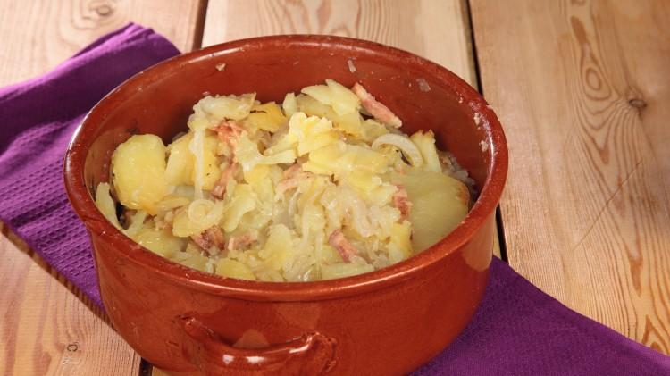 Patate alle cipolle e pancetta