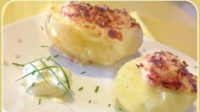 Barchette di patate riepiene