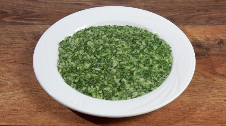 Risotto con spinaci e mascarpone