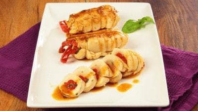 Involtini di pollo ai peperoni