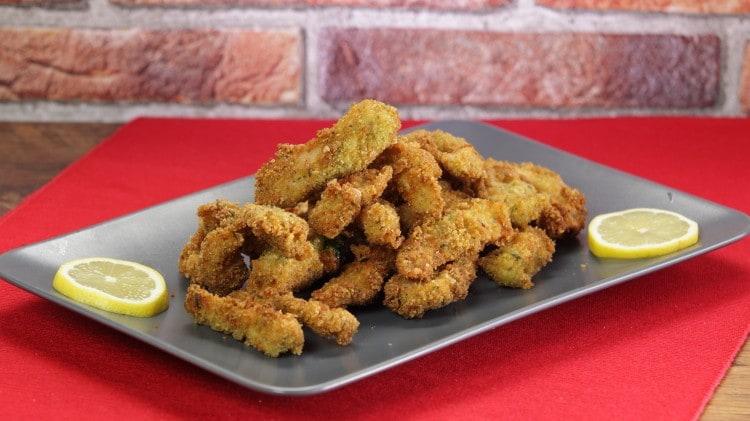 Bastoncini di pollo croccante al rosmarino