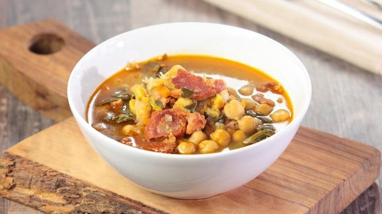 Zuppa di ceci andalusa