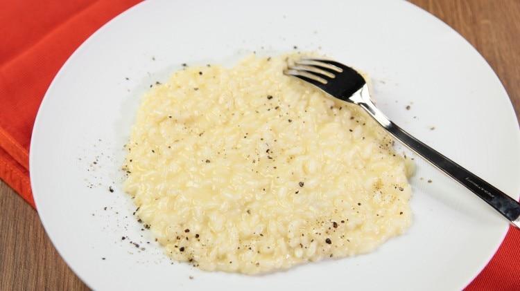 Risotto cacio e pepe