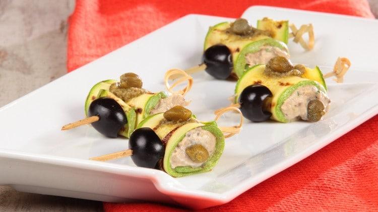 Involtini di zucchine con tonno