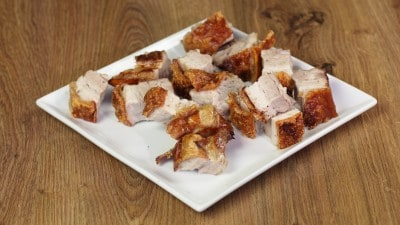 Pancetta di maiale croccante