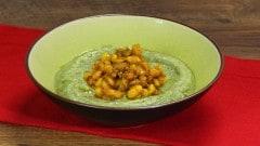 Crema di broccoli con fagioli speziati