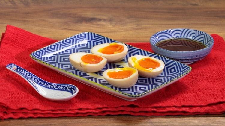 Uova sode morbide alla giapponese