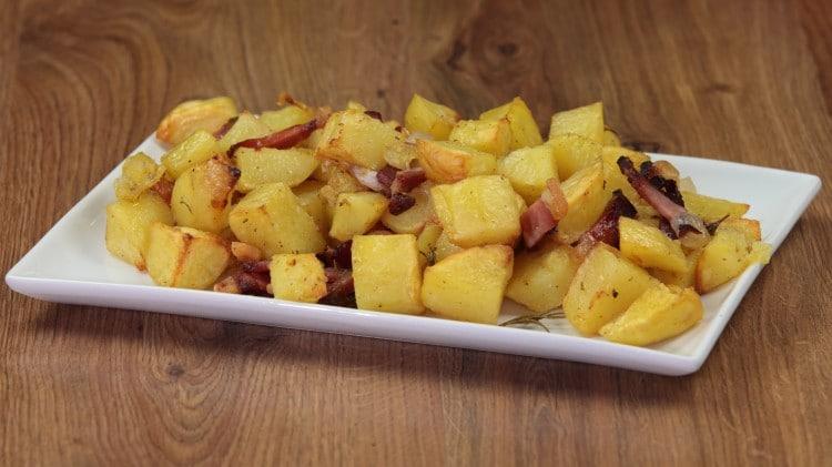 Patate al forno con speck