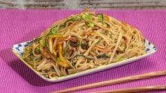 Noodles di riso vegetariani