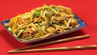Noodles con le verdure