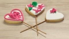 Biscotti a cuore romantici