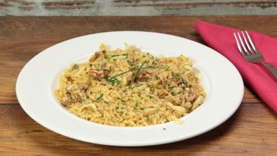 Risotto calamari e curry