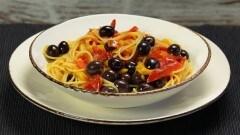 Spaghetti pomodoro e peperoni