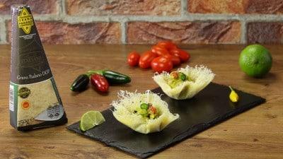 Cestini di Grana Padano con guacamole