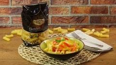 Pasta con peperoni e caciocavallo