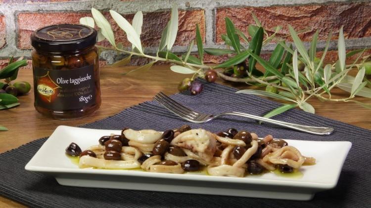 Calamari con olive taggiasche