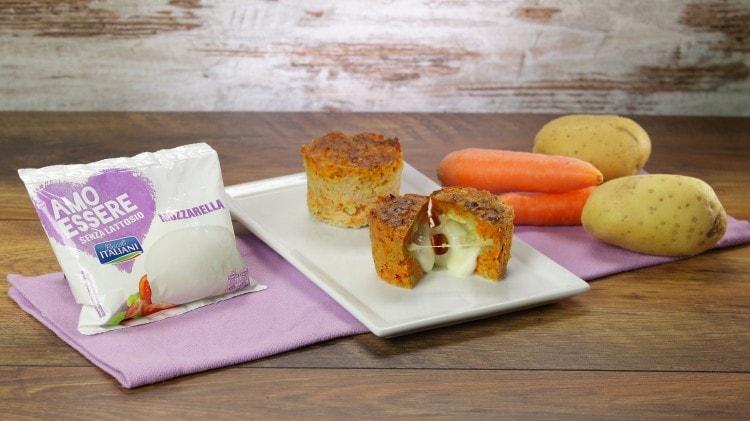 Flan di carote con mozzarella filante