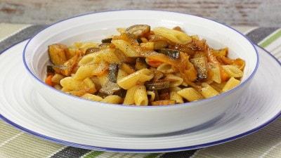 Pennette zucchine e peperoni