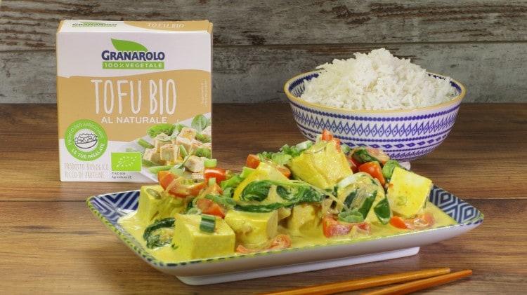 Curry di tofu
