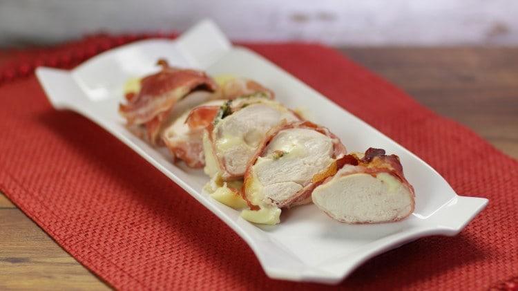 Petto di pollo farcito con edamer e rosmarino