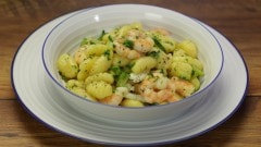 Gnocchi zucchine e gamberi