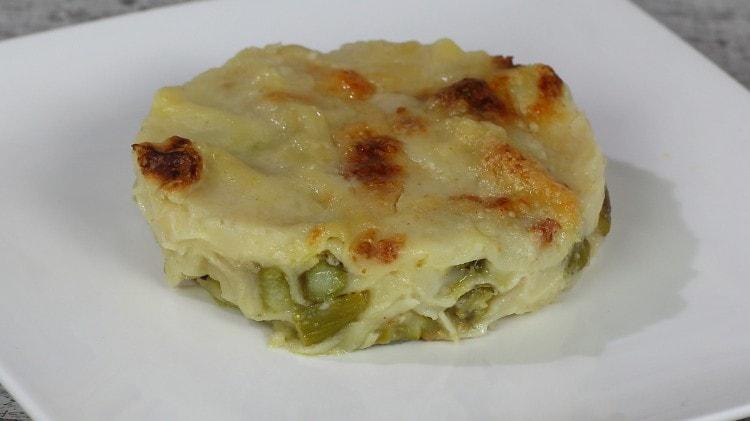 Lasagne agli asparagi cremose