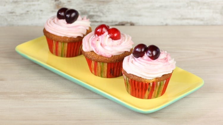 Cupcakes alle ciliegie