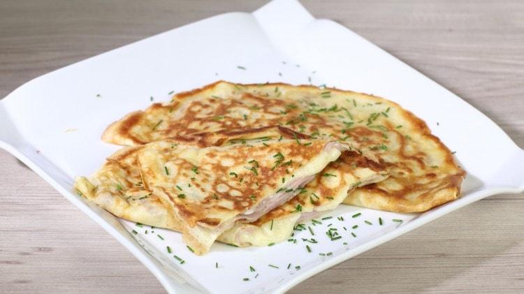 Crepes prosciutto cotto e formaggio