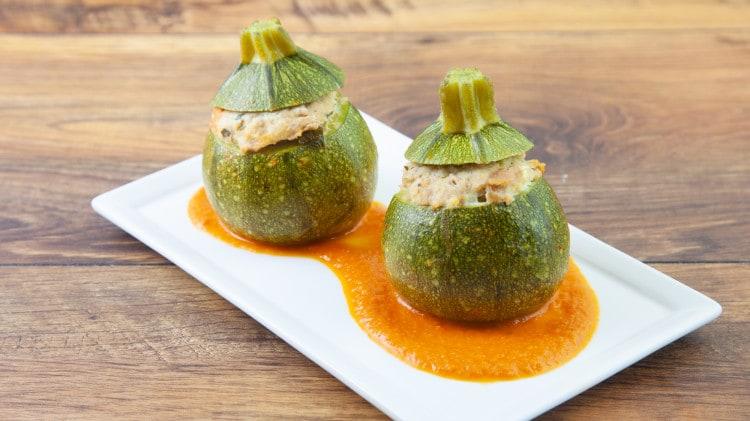 Zucchine tonde ripiene al tonno