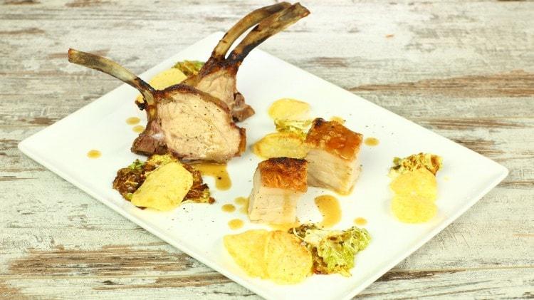 Maiale arrosto con verza e patate