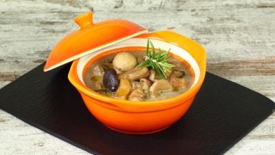 Zuppa di funghi con castagne