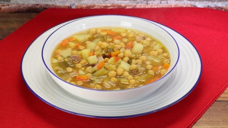 Zuppa di ceci - Sopa de garbanzos