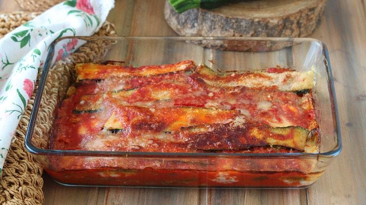 Parmigiana di zucchine leggera