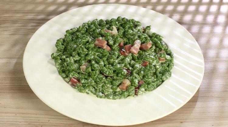 Spatzle tirolesi agli spinaci
