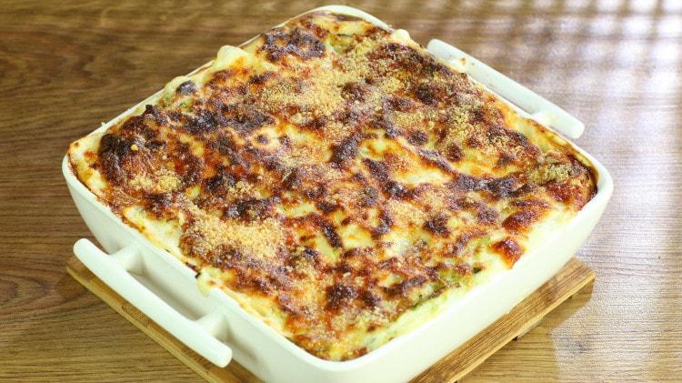 Lasagne zucchine e speck saporite