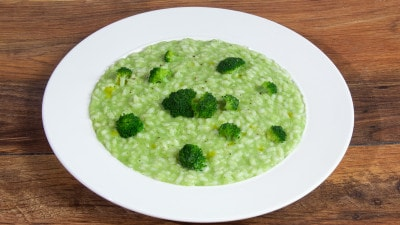 Risotto con crema di broccoli