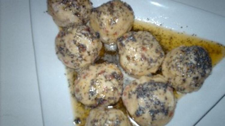 Gnocchi di patate e speck al papavero